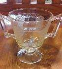 Jeanette Clear Glass 2 Handled Sugar Dish Cup Baltimore Pear Vintage