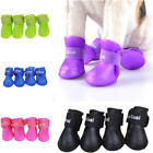 Pet Shoes Booties Rubber Dog Waterproof Anti slip Rain Boots for Small Big Dog
