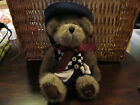 Boyds Bear Catherine Beariweather FOB 2000 Navy Cream Check Sweater and Hat