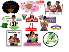 13 Calendar Fun African American stickers for planners