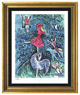 Marc Chagall Signed Hand Numbered Ltd Ed Circus Girl Litho Print unframed