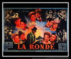 LA RONDE Max Ophuls 5x8 ft Double French Grande Original Movie Poster 1950
