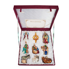 Nativity Boxed Set of 9 14020 Old World Christmas Glass Ornament NEW