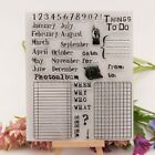 To do list Month Day Silicone Clear Rubber Stamp Cling Diary Scrapbooking DIY HW