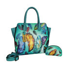 Anuschka Womens Medium Expandable Convertible Tote Floating Feathers Size
