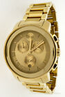 MOVADO MENS BOLD WATCH CHRONO CHAMPAGNE DIAL GOLD TONE 3600278