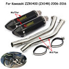 For Kawasaki ZZR1400 ZX14R 2006-2016 Exhaust System Muffler Connect Pipe Slip On