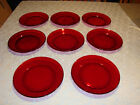 Lot of 8 Arcoroc France Ruby Red Salad / Bread Plates 8