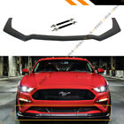FOR 18 2020 MUSTANG GT PERFORMANCE STYLE ADD ON FRONT BUMPER LIP SPLITTER + ROD