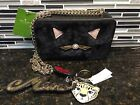 Kate Spade Marigold Brighton Lane Black  Cat Leopard Key chain NWT Stunning