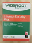WEBROOT INTERNET SECURITY PLUS 2018 3 DEVICES NEW in Sealed BOX Ships Free 3 Day
