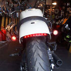 Bobber Cafe Racer Motorcycle LED Turn Signal Tail Light Brake Running Bullet Red