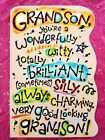 Happy Birthday Greeting Card For Grandson with FREE Envelope MADE IN USA