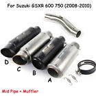 For Suzuki GSXR 600 750 2008 2010 Exhaust Muffler Middle Mid Pipe For Motorcycle