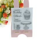 Happy birthday cake stamps seal scrapbooking album card decor diary diy craft B