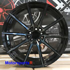 XXR 567 Wheels Black 18 +20 Staggered Rims 5x1143 Stance Fit 90 96 Nissan 300zx