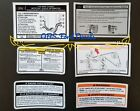 1992-96 Ford F150 F Series Bronco Radiator Support Decal Set Obs