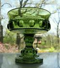 Indiana Colony Glass Green Kings Crown Compote