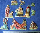 Vintage German Die Cut Scraps Nativity scene