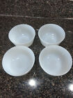 Vintage Lot of 4 Fire-King Oven Glass Custard Ramekin 6 Oz. Cups Bowls Cream