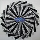 5 inch Charm pack 100 Cotton quilting fabric 50 pack Black  White