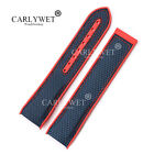 22mm Red Rubber Blue Nylon Watch Band For OMEGA Seamaster Planet Ocean 45 42mm