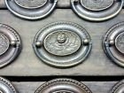ONE Vtg Ornate HEPPLEWHITE Rosebud BRASS Pull Handle Drawer Dresser 2 1/2
