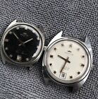 2 X VINTAGE FORTIS DATE WINDING CAL (7F ST 96-4) 17 JEWEL MENS WRIST WATCHES