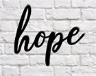 hope metal sign Metal Wall Hanging hope word sign Calligraphy Sign