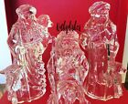 Marquis Nativity Waterford Crystal LARGE SHEPHERDS w SHEEP Figurines Retired