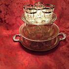 VINTAGE BAR-WARE Silver rimmed Whiskey, Highball and Shooters 18 pc set