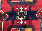4x6 RED HAND KNOTTED PERSIAN RUG WOOL VINTAGE caucasian geometric runner 3x6 ft