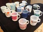 15 Vintage Fire King Mugs - Nice variety New to Excellent Condition