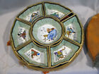 Antique CHINESE EXPORT DIVIDED PORCELAIN SERVING SET - IN CASE - SIGNED