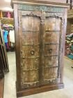 Antique Cabinet Storage Old Doors Wardrobe Iron Vintage Armoires and Chests