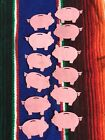 Piggy Die Cuts Free Shipping Scrapbooking Party Decor Set Of 12