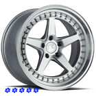 Aodhan DS05 Wheels Silver 18 Staggered Rims 5x1143 Fits 90 91 96 Nissan 300zx