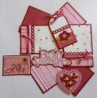 BE MY VALENTINE Love Premade Scrapbook Page Mat Set sewn SALE