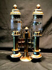 Train Carriage Brass Candle Holder Wall Sconce Spring Loaded