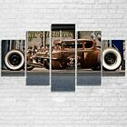 Rat Rod Old Vintage Car 5 Pieces Canvas Art Wall Art Picture Painting Home Decor
