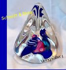 SCHMIDT  RHEA ART GLASS Paperweight Signed S R 91 COLLECTABLE VINTAGE 1991