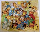 Vtg Elena Christmas Advent Calendar Urchins Nativity Manger American Greetings