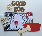 My Cute Good Dog Paper Piecing Pre made Scrapbook Page Sewn Mat Set