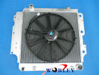 3 ROW ALUMINUM RADIATOR + FAN FOR 1987 2006 JEEP WRANGLER YJTJ CHEVY ENGINE AT