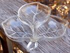 3 Section CANDY DISH... Nuts / Relish... Leaf shaped... Mic-Century Vintage