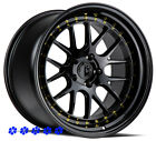 Aodhan DS06 Black Wheels 18 +35 Staggered Rims 5x1143 Fit 90 96 Nissan 300zx