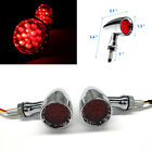 Red Brake Running Turn Signal Tail Light Chrome Motorcycle Bullet Indicators US