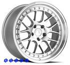 Aodhan DS06 Silver Wheels 18 +35 Staggered Rims 5x1143 Fit 90 96 Nissan 300zx
