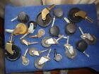 Vintage Antique Furniture Small Casters Lot Wheels Iron Brass Wood Plastic Mixed