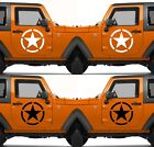 Set of 2 America US U.S. Army Armed Forces Military Star Vinyl Decal Sticker  V8